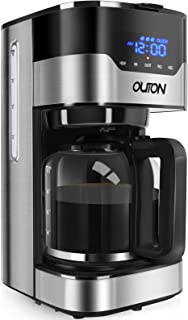 فنجان قهوه ساز اولتون 12 فنجان ، قهوه ساز قطره ای قابل برنامه ریزی ، مقاومت در برابر دم چندگانه ، خاموش شدن خودکار ، گرم نگه داشتن دستگاه قهوه جمع و جور با کاراف شیشه