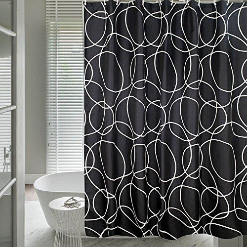 HuaForCity Duschvorhang 200x240cm Textil,Anti-Schimmel Badvorhang für Badezimmer,Waschbarer Shower Curtain mit 12 Ringe