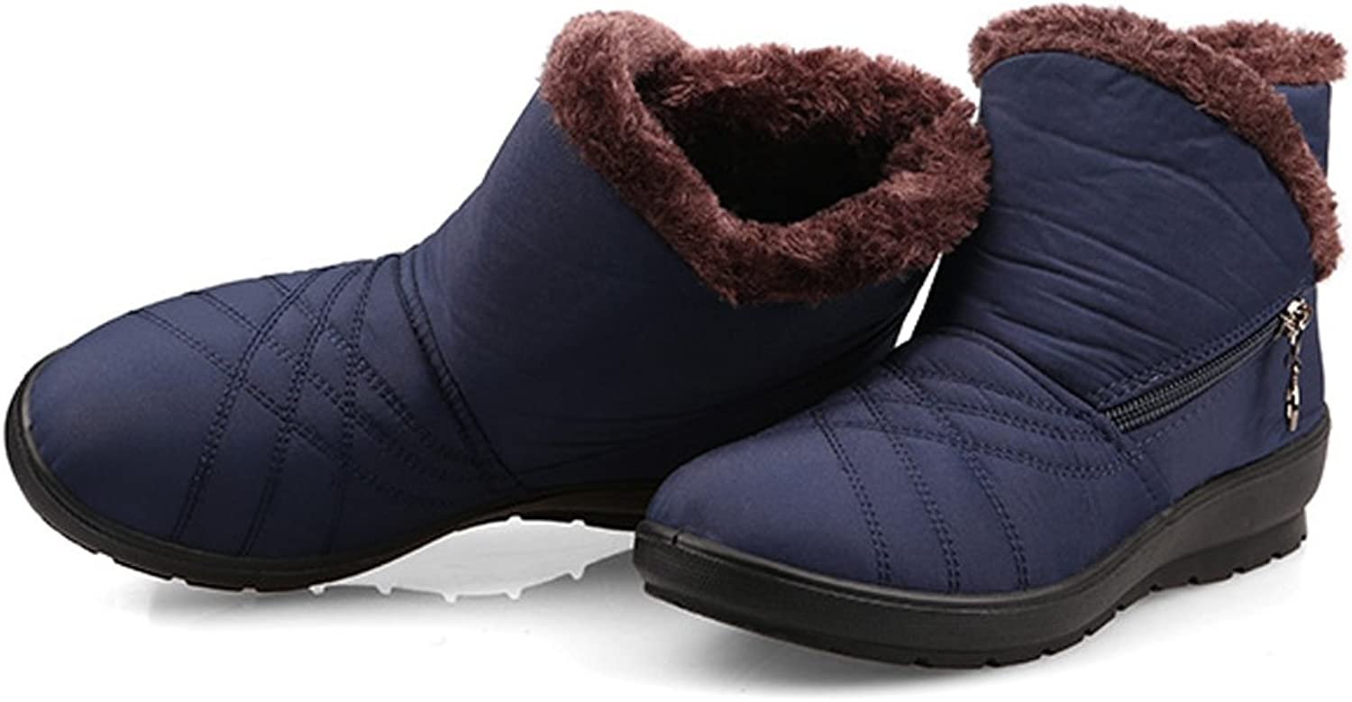 BERTERI Women's Winter Snow Boots Warm and Antiskid Ankle Boots for Mom