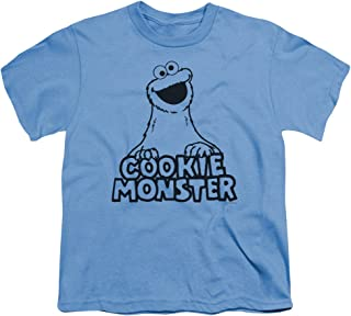 Sesame Street Vintage Cookie Monster Unisex Youth T Shirt for Boys and Girls