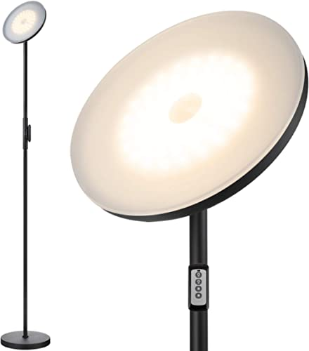 Floor Lamp,30W/2400LM Sky LED Modern Torchiere 3 Color Temperatures Super Bright Floor Lamps-Tall Standing Pole Light...