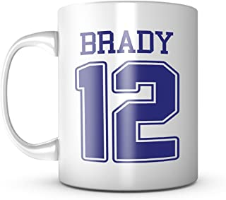 Tom Brady Mug - Jersey Number Football Coffee Cup