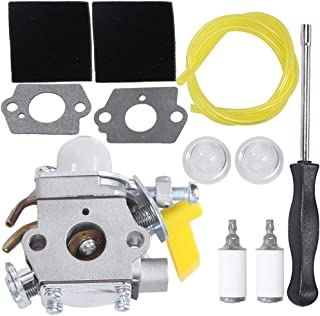 Anxingo 26cc Carburetor for Ryobi Homelite 25cc 26cc 30cc String Trimmers Leaf blowers Replaces Zama C1U-H60 C1U-H60D C1U-H60E Carburetor 308054012 308054004 308054008 Carb Kit