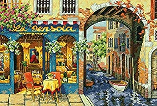 Dimensions Gold Collection Charming Waterway Counted Cross Stitch Kit-16 X11