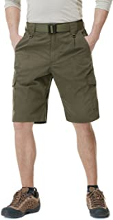 CQR Men's Urban Tactical Lightweight Utiliy EDC Cargo Classic Uniform Shorts