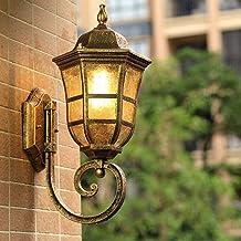 MKKM Continentaal waterdicht wandlamp, gestanst aluminium transparant glas muur lantaarn zwart matte afwerking wandverlich...