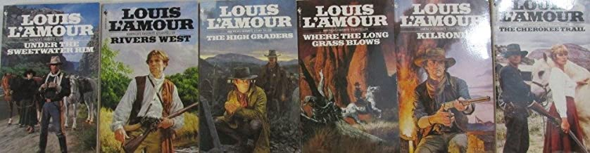 Author Louis L'Amour Six Book Set Bundle Collection, Includes: Under The Sweetwater Rim - Rivers West - The High Graders -...