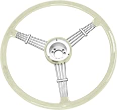 Empi Banjo Style Vintage Steering Wheel Kit, Silver/Grey