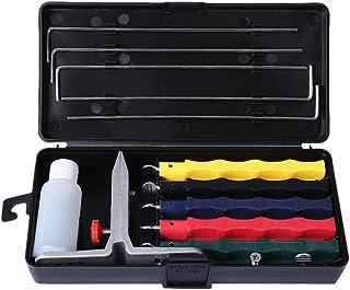 OnehomeStore Afilador de Cuchillos portátil Profesional con Sistema de Afilado de Cocina con versión de 5 Piedras