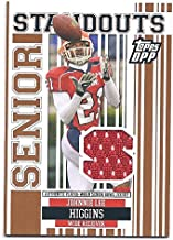 JOHNNIE LEE HIGGINS 2007 Topps Draft Picks & Prospects Senior Standouts #JH Game-Worn JERSEY RC Rookie Card Oakland Raiders UTEP Miners Football
