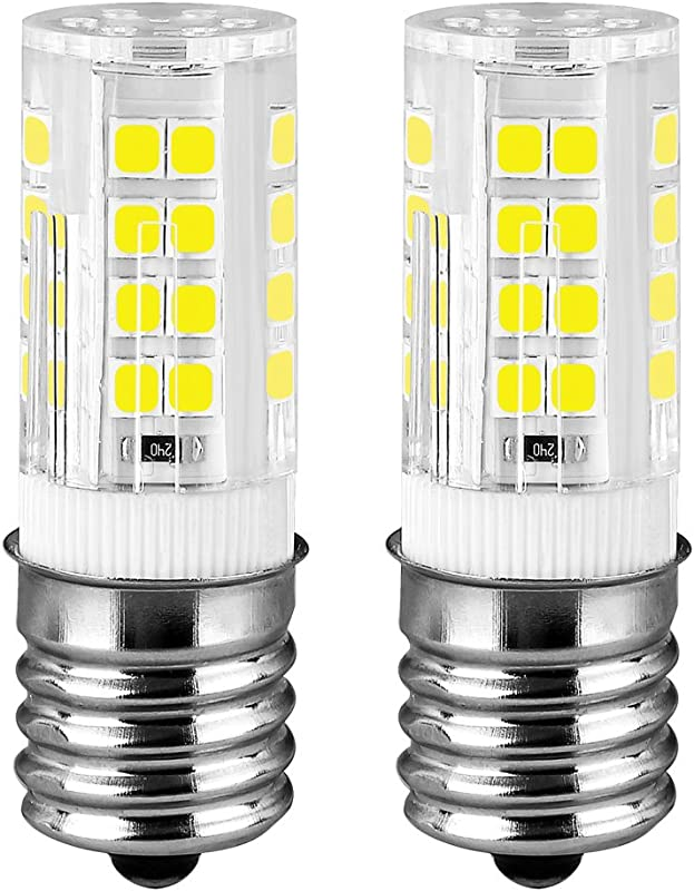 KINDEEP Ceramic E17 LED Bulb For Microwave Oven Appliance 40W Halogen Bulb Equivalent Daylight White 6000K Pack Of 2