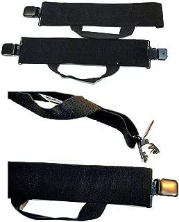 Hold-Ups Biker Stirrups or Boot Straps w/Patented No-slip Jumbo Black Metal Clips
