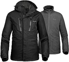 OutdoorMaster Men's 3-in-1 Ski Jacket - Winter Jacket Set with Fleece Liner Jacket & Hooded Waterproof Shell - for Men