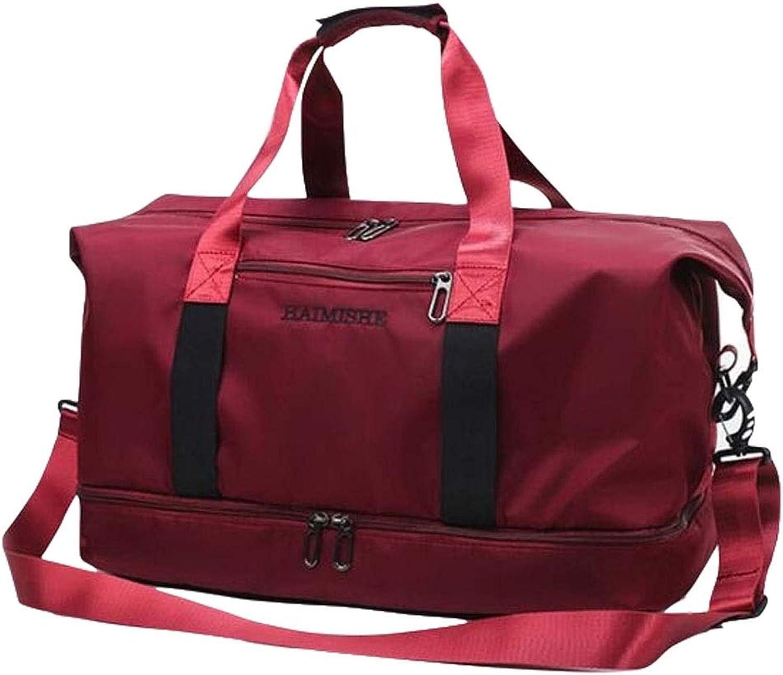 Jinnuotong Sports Bag, Simple and Lightweight Waterproof Sports Bag, Yoga Bag, LargeCapacity ShortDistance Mobile Travel Bag, Gym Bag, Size  46  25  26cm Very Beautiful