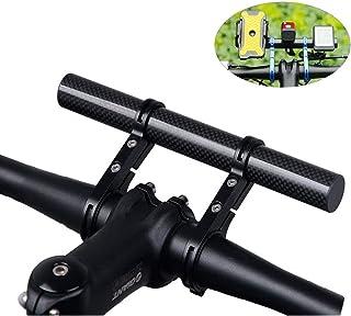 Homeet Manillar de bicicleta Soporte Manillar Bicicleta Extensor de Manillar para Bici 20CM Fibra de Carbono Soporte de Mo...