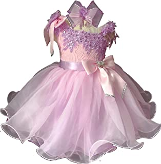Jenniferwu Infant Toddler Baby Newborn Little Girl`s Pageant Party Birthday Dress EB1179-4 PING Size 3T Pink