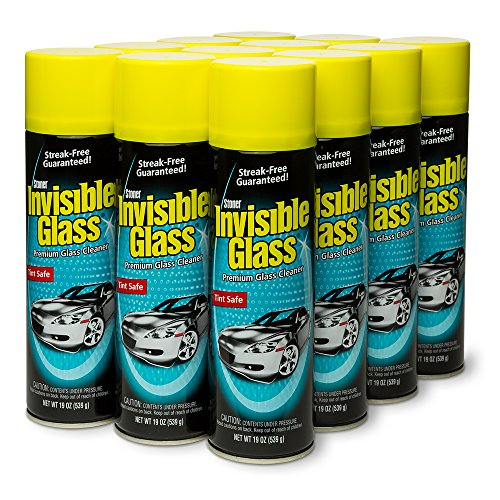 Invisible Glass 91164-12PK Premium Glass Cleaner 19-Ounce Can, 228. Fluid, 12 Pack