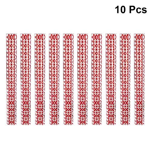 BESTOYARD Inpakpapier Sneeuwvlok Decoratieve Geschenkverpakking Crafting 10 Rollen