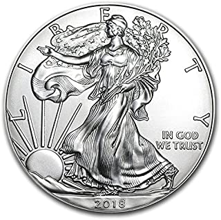 2018 - Mintroll of 20-1 Ounce American Silver Eagle .999 Fine Silver Uncirculated
