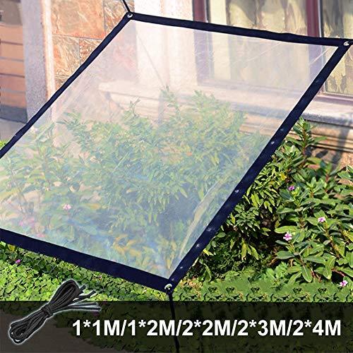 KOET Wasserdichte durchsichtige Abdeckplane für den Garten, aus Polyethylen, mit Ösen und Trageband, robust, frostsicher, UV-beständig, winddicht, für Gewächshaus