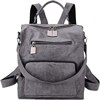 Women Backpack Purse, PU Leather Mini Backpack Fashion Shoulder Bag for Ladies Three Ways to Carry