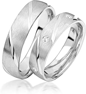 Wedding Rings Engagement Rings Engagement Rings Friendship Rings 925Sterling Silver * Comes with Free Case and Zirconia Stones