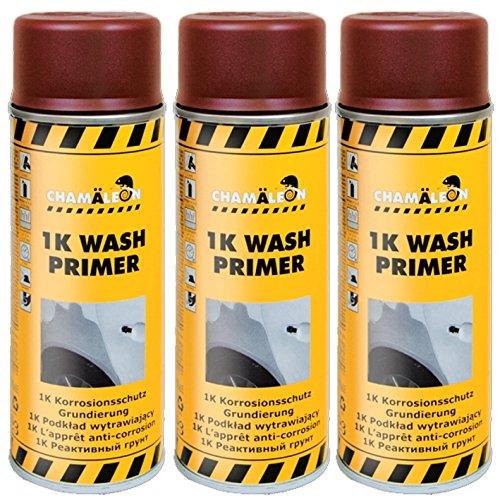 Chamäleon WASHPRIMER 1K Spray 3 x 400ml KORROSIONSSCHUTZ Etch Primer Säureprimer GRUNDIERUNG