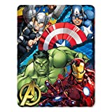 Marvel's Avengers, 'Defend Earth' Fleece Throw Blanket, 45 x 60', Multi Color