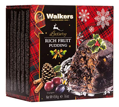Walkers Shortbread Rich Holiday Fruit Pudding, 16 Ounce Box