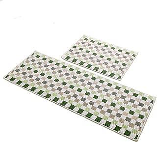 Easychan 2 Piece Carpet Rubber Backing Non-Slip Kitchen Rugs Mat Doormat Area Rugs (17