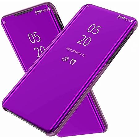 FanTings Funda para Realme 7 Pro,Flip Cover Carcasa, Inteligente Case [Soporte Plegable] Caso Duro con del sueño/Despierte Función -Morado