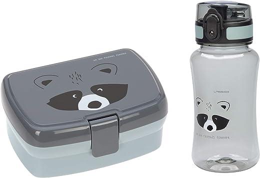 LÄSSIG Lunch Set mit Lunchbox und Trinkflasche (460 ml)/About Friends Chinchilla
