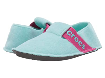Crocs Kids Classic Slipper (Toddler/Little Kid) (Ice Blue) Kids Shoes