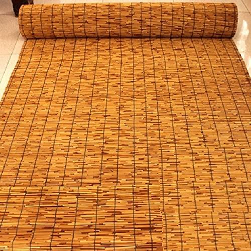 SAMUR Persiana Enrollable Persiana de Bambú, Cortinas de Caña Naturalm, Estores de Bambú para Exteriores, Cortinas Privacidad Protección, Personalizable