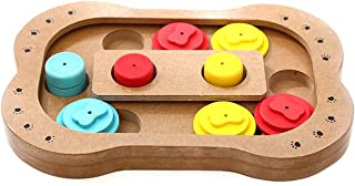 Wooden Feeder,fun Multi-function, Educational Pet Toys.Pet Feeder For Cats Dogs Smart Pet Feeder, Pet supplies (Size : M)