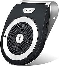 Bluetooth Speakers HandsFree Car Kit ,TIANSHILI Wireless Speakerphones Audio Sun Visor Speaker Built-in Mic AUTO Power ON GPS Music Player Adapter