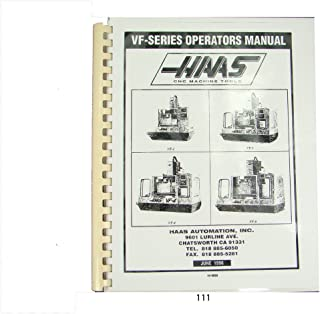Haas VF Series Operators Manual Milling Machine