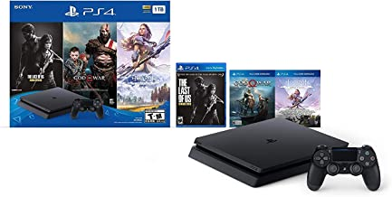 Newest Sony Playstation 4 PS4 1TB HDD Gaming Console Bundle with Three Games: The Last of Us, God of War, Horizon Zero Daw...