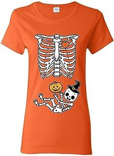 ZoDong Halloween Skeleton Ladies (not Maternity) DT T-Shirt Tee