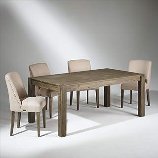Robin des bois - Table de Salle à Manger Bois, 8 Couverts, Enzo