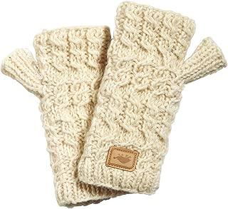 Women's Nepal Mika Fingerless Mittens, Hand Knit Wool