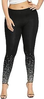 CharMma Women's Plus Size Star Print Skinny Yoga Pant Basic Leggings