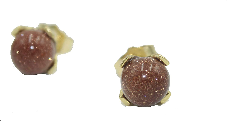 Venturina Round 9mm Ball Earrigs 18k Gold Plated - Venturina 9mm Stud Earrings