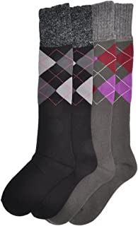 Angelina 3 Pairs Angora Wool-Top French Terry Thermal Knee High Socks