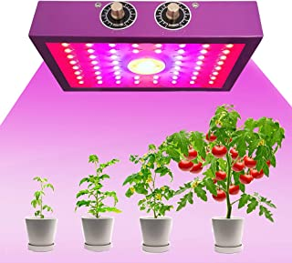COB LED Grow light1200W , Full Spectrum Dual Switch, with dimmable knob for Indoor Plants, Vegetables and Flowers - 1200W ...