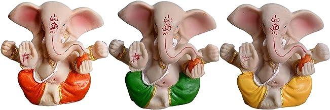 Nobranded Collection Lord Ganesha Figurine, Resin India Elephant God, Buddha Statues, Car Mandir Diwali Feng Shui Decorati...