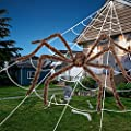 """200"""" Giant Spider Web+80"""" Mega Spider Halloween Decorations, Large Scary Hairy Fake Halloween Spiders Creepy Huge Spiderweb for Outside Yard Haunted House Décor,Halloween Decorations Outdoor Clearance"""