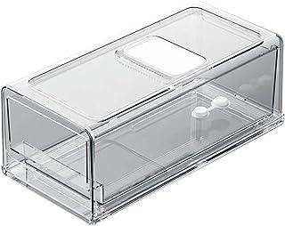 Boîte de Rangement pour Réfrigérateur, Organisateur de Tiroir Transparente en Plastique Bac Rangement Frigo Empilables pou...
