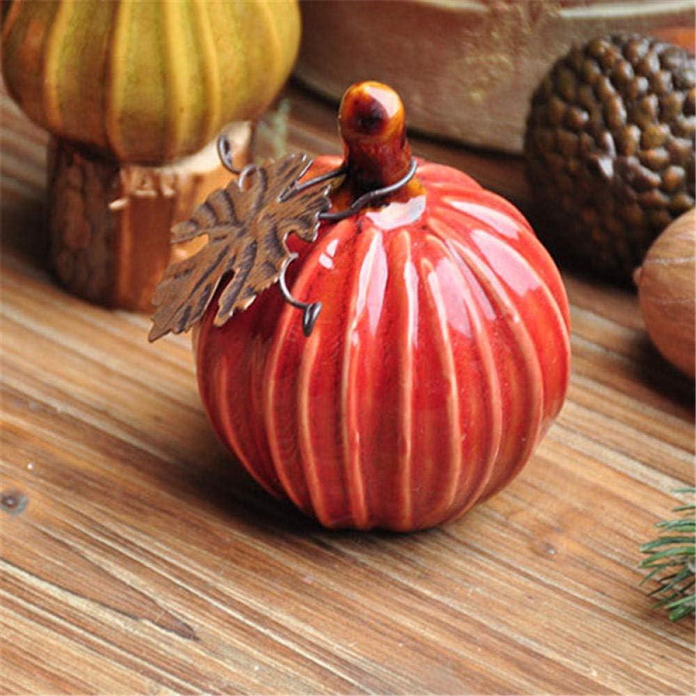 YANGHONDD Wall Sculptures Ceramic Pumpkin Ornament D Garden Home Popular overseas Safety and trust