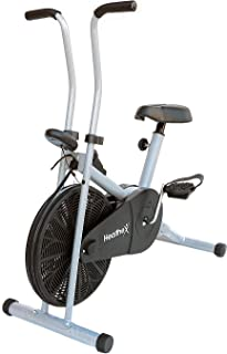 Healthex 1001 Alloy Steel Air Bike, Black, Silver